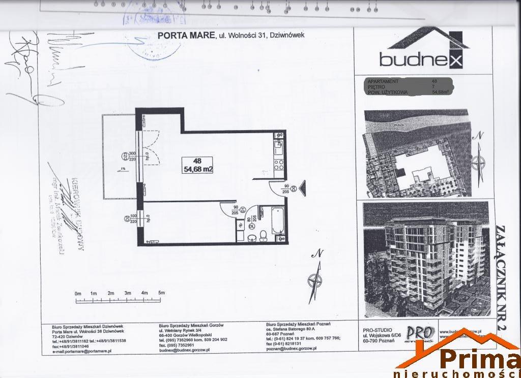 Mieszkanie dwupokojowe na sprzedaż Dziwnówek, Wolności  55m2 Foto 8