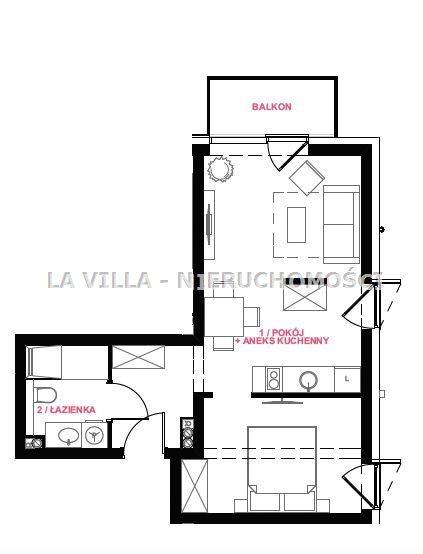 Mieszkanie dwupokojowe na sprzedaż Świnoujście  39m2 Foto 3