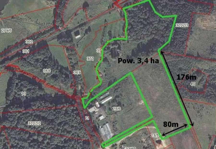 Działka rolna na sprzedaż Kłódka  33876m2 Foto 3