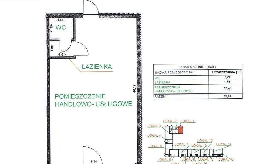 Lokal użytkowy na wynajem Wałcz, Generała Władysława Andersa  60m2 Foto 7