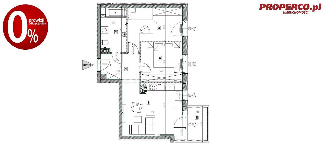 Mieszkanie trzypokojowe na sprzedaż Nowiny  56m2 Foto 9