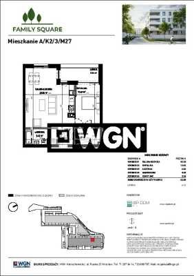 Mieszkanie dwupokojowe na sprzedaż Wrocław, Krzyki, Skarbowców  56m2 Foto 5
