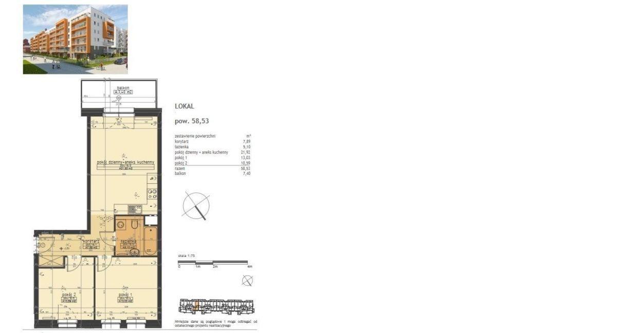 Mieszkanie trzypokojowe na sprzedaż Poznań, Stare Miasto, Winogrady, Winogrady, Piątkowo, Naramowice,ul.Serbsk,  59m2 Foto 2