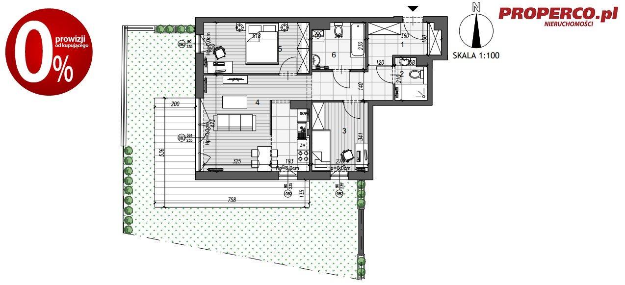 Mieszkanie trzypokojowe na sprzedaż Kielce, Szydłówek, Klonowa  68m2 Foto 5
