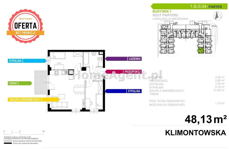 Mieszkanie trzypokojowe na sprzedaż Sosnowiec, Klimontów, Klimontowska  48m2 Foto 9
