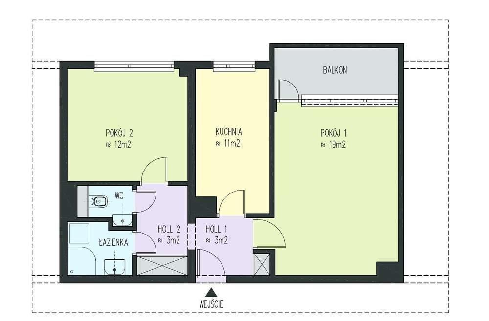 Mieszkanie dwupokojowe na sprzedaż Wrocław, Fabryczna, Szybowcowa  50m2 Foto 11