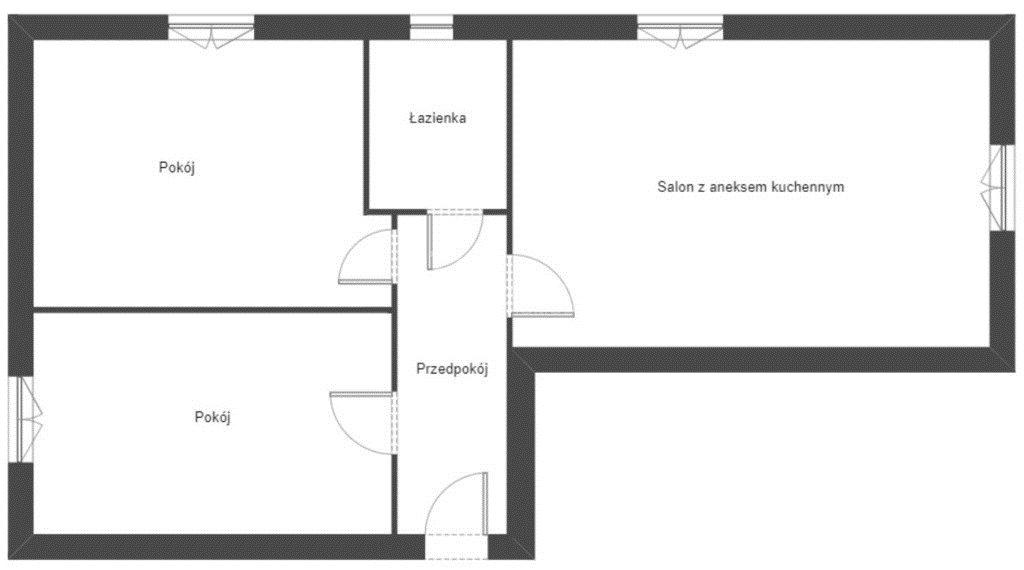 Mieszkanie trzypokojowe na sprzedaż Białystok, Centrum, al. Józefa Piłsudskiego  52m2 Foto 3