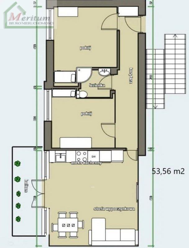 Mieszkanie trzypokojowe na sprzedaż Nowy Sącz  54m2 Foto 11