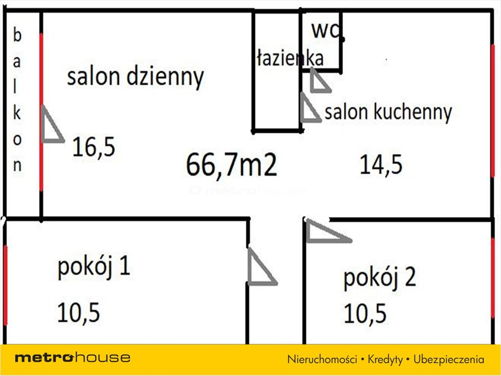 Mieszkanie dwupokojowe na sprzedaż Gdańsk, Żabianka, Pomorska  67m2 Foto 9
