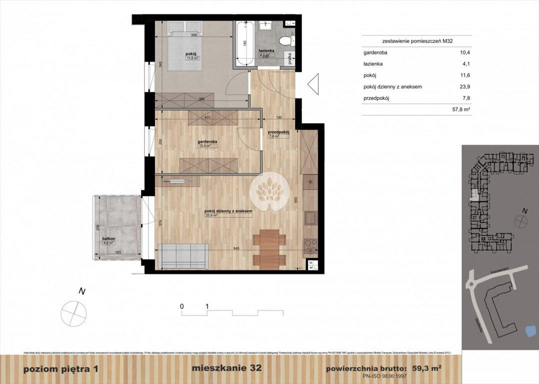 Mieszkanie dwupokojowe na sprzedaż Bydgoszcz, Czyżkówko, Siedlecka  59m2 Foto 9
