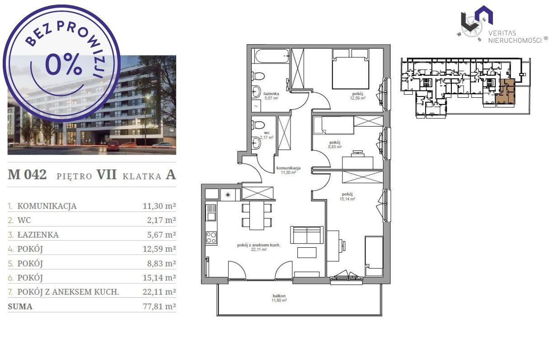 Mieszkanie czteropokojowe  na sprzedaż Katowice, Śródmieście, Opolska  78m2 Foto 2
