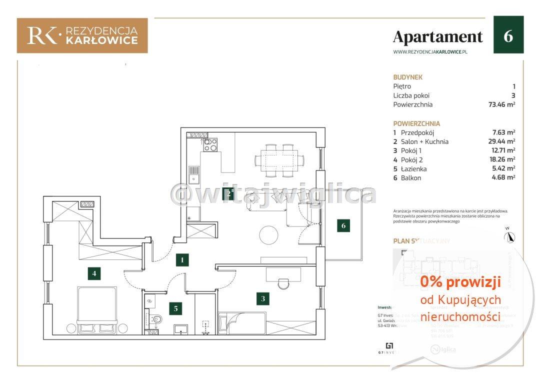 Mieszkanie trzypokojowe na sprzedaż Wrocław, Psie Pole, Karłowice, Miriama Przesmyckiego  73m2 Foto 11