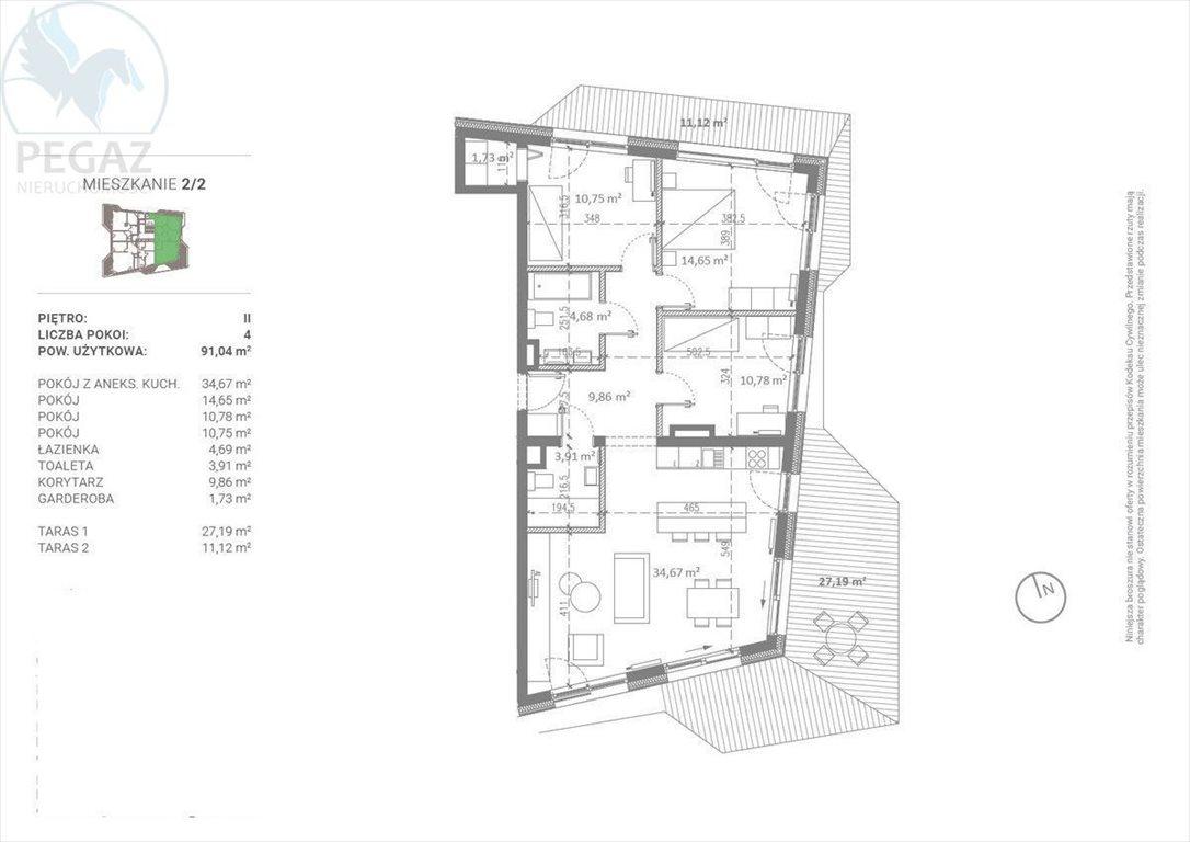 Mieszkanie czteropokojowe  na sprzedaż Poznań  91m2 Foto 3