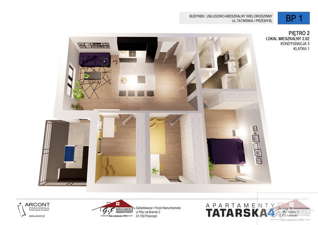 Mieszkanie czteropokojowe  na sprzedaż Przemyśl, Tatarska  73m2 Foto 4