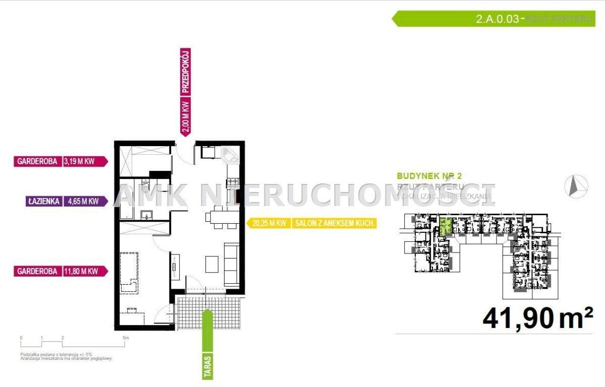 Mieszkanie dwupokojowe na sprzedaż Mikołów, Reta  42m2 Foto 2