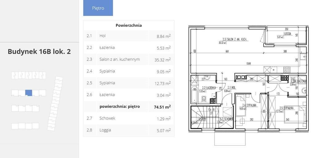 Mieszkanie trzypokojowe na sprzedaż Łomianki, Lwowska  75m2 Foto 7