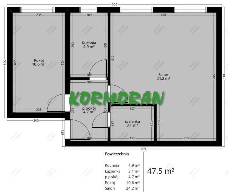 Mieszkanie dwupokojowe na sprzedaż Opole, Bliskie Zaodrze  48m2 Foto 7