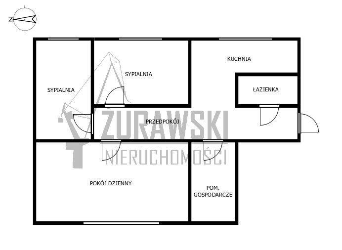 Mieszkanie trzypokojowe na wynajem Gdańsk, Stare Miasto, Złotników  63m2 Foto 4