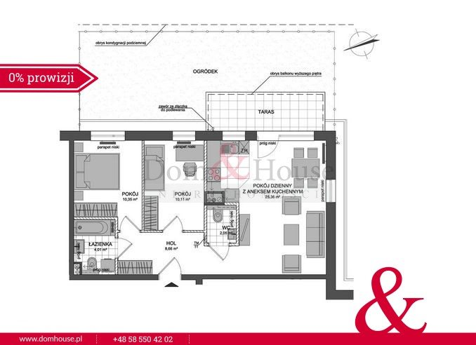 Mieszkanie trzypokojowe na sprzedaż Rumia, Stoczniowców  63m2 Foto 5