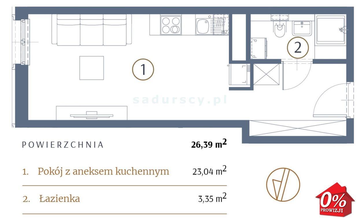 Kawalerka na sprzedaż Kraków, Stare Miasto, Kleparz, Sławkowska - okolice  26m2 Foto 3