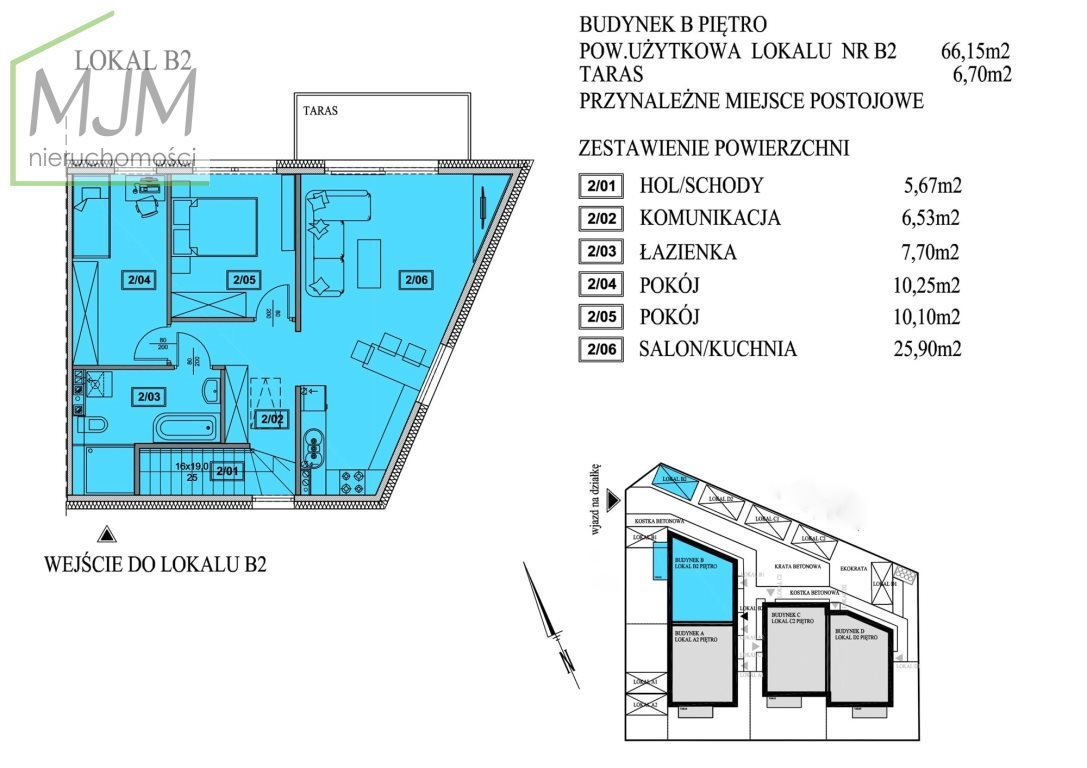 Mieszkanie trzypokojowe na sprzedaż Mierzyn  64m2 Foto 2