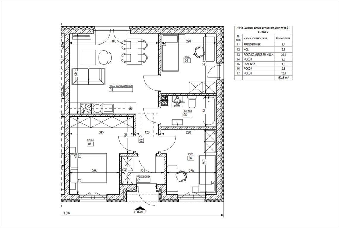 Mieszkanie trzypokojowe na sprzedaż Śrem  64m2 Foto 6