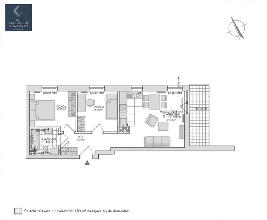 Mieszkanie trzypokojowe na sprzedaż Gdynia, Pogórze  57m2 Foto 4