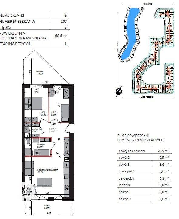 Mieszkanie trzypokojowe na sprzedaż Bydgoszcz, Szwederowo, Piękna  61m2 Foto 6