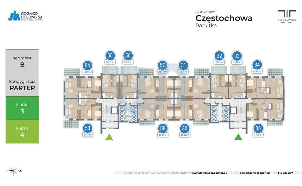 Mieszkanie trzypokojowe na sprzedaż Częstochowa  65m2 Foto 3