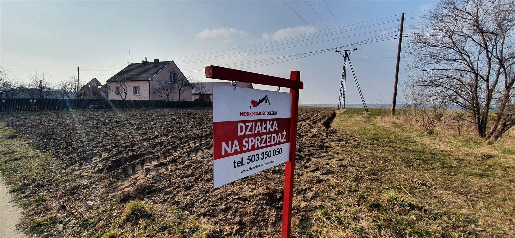 Działka budowlana na sprzedaż Praszka, Gana  2000m2 Foto 1