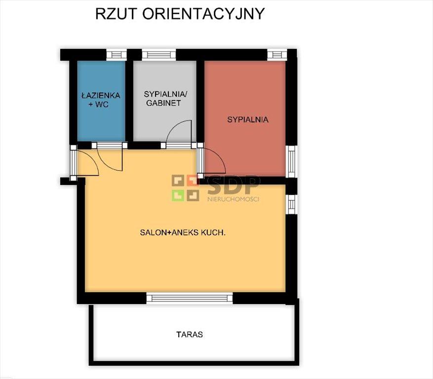 Mieszkanie trzypokojowe na sprzedaż Wrocław, Krzyki, Borek  52m2 Foto 6
