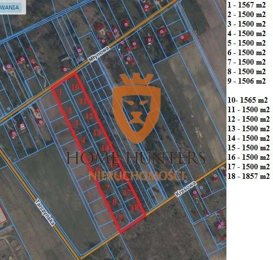 Działka budowlana na sprzedaż Krakowiany  1567m2 Foto 1