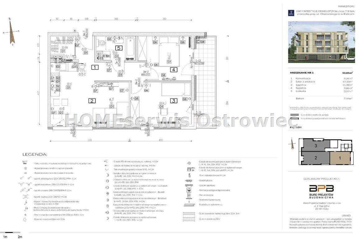 Mieszkanie trzypokojowe na sprzedaż Ostrowiec Świętokrzyski, Centrum  71m2 Foto 10