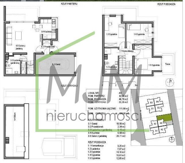 Dom na sprzedaż Szczecin, Mierzyn  112m2 Foto 1
