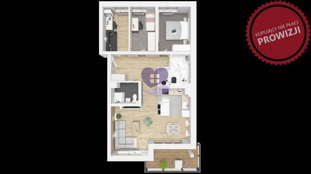 Mieszkanie czteropokojowe  na sprzedaż Ełk, Ogrodowa  72m2 Foto 3