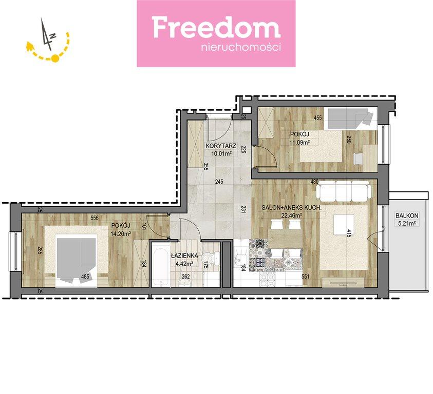 Mieszkanie trzypokojowe na sprzedaż Białystok, Dojlidy  62m2 Foto 3