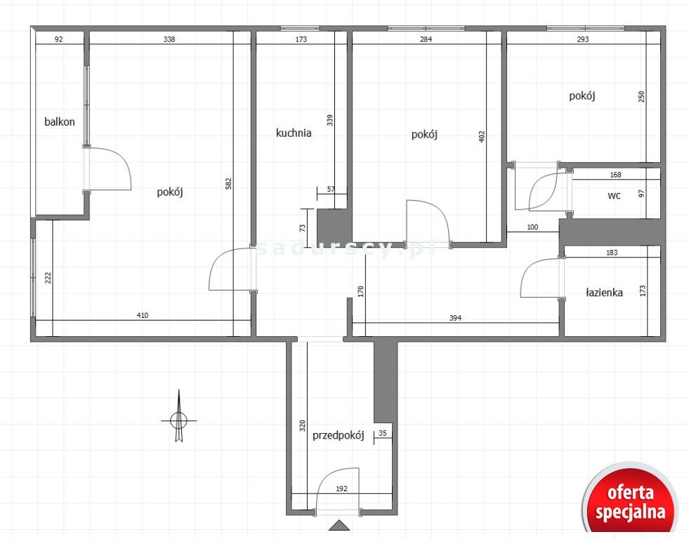 Mieszkanie trzypokojowe na sprzedaż Kraków, Czyżyny, Czyżyny, os. Dywizjonu 303  63m2 Foto 4