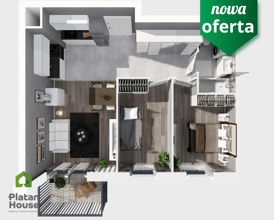 Mieszkanie trzypokojowe na sprzedaż Warszawa, Włochy, Równoległa  52m2 Foto 3