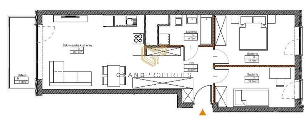 Mieszkanie trzypokojowe na sprzedaż Warszawa, Mokotów Sadyba  64m2 Foto 3