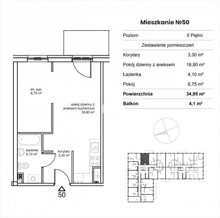 Mieszkanie dwupokojowe na sprzedaż Bydgoszcz, Okole, Garbary  35m2 Foto 8