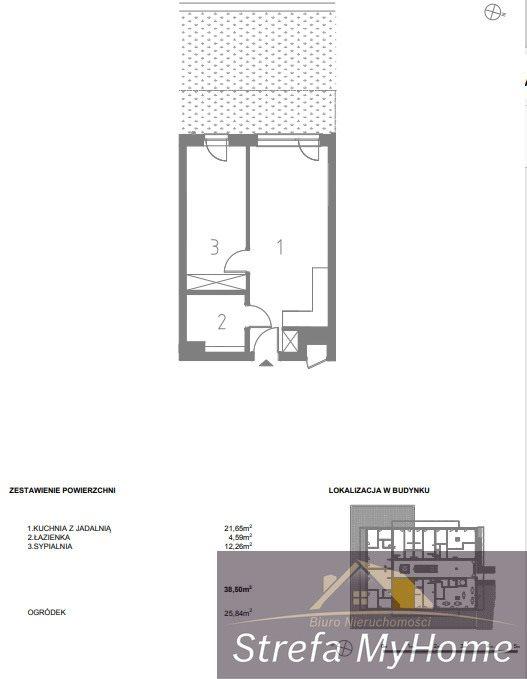 Mieszkanie dwupokojowe na sprzedaż Pobierowo  39m2 Foto 2