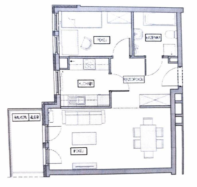 Mieszkanie dwupokojowe na sprzedaż Borkowo  47m2 Foto 5
