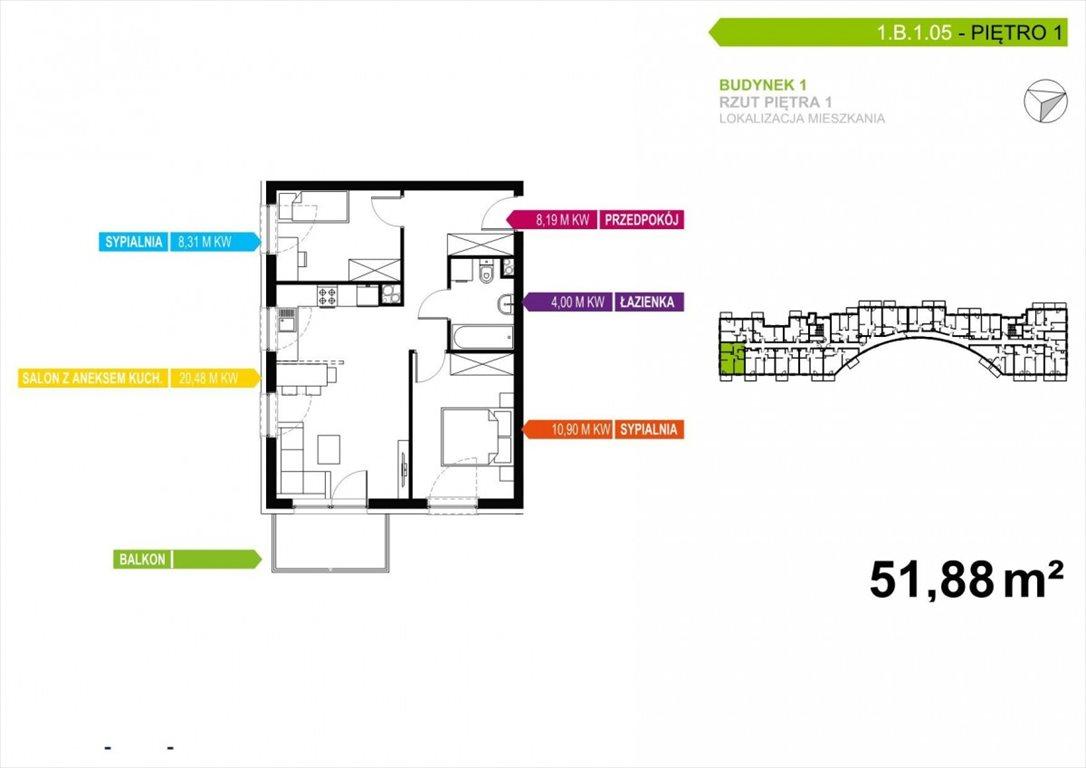 Mieszkanie trzypokojowe na sprzedaż Poznań, Malta, abpa Walentego Dymka  52m2 Foto 1