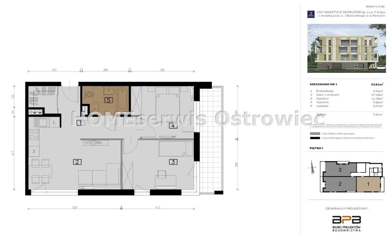 Mieszkanie trzypokojowe na sprzedaż Ostrowiec Świętokrzyski, Centrum  71m2 Foto 9