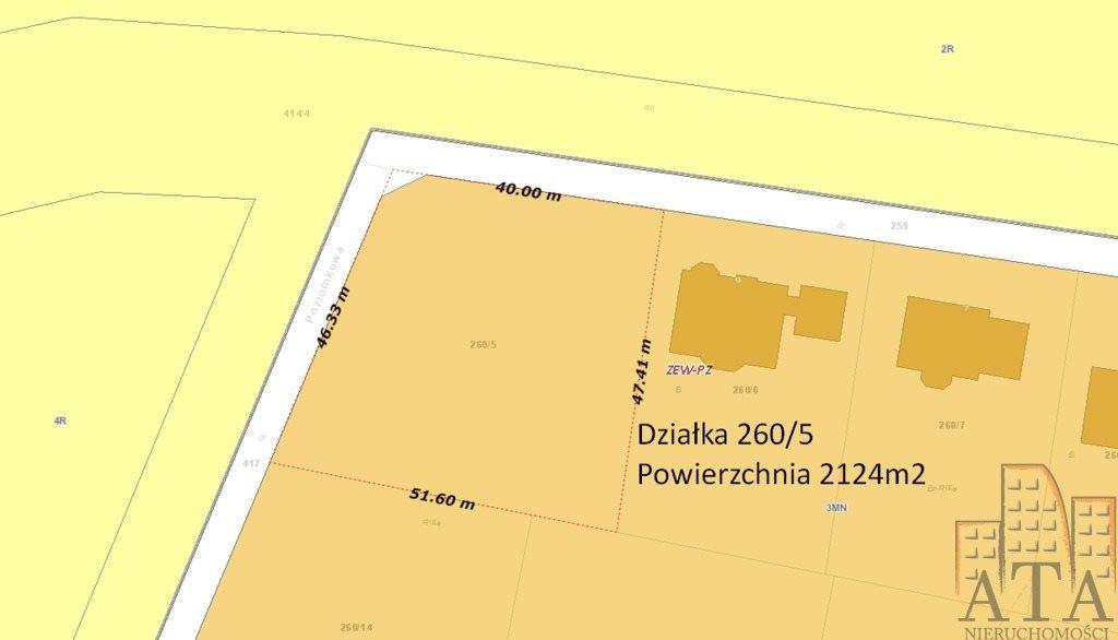 Działka budowlana na sprzedaż Żerniki Wrocławskie  2124m2 Foto 2