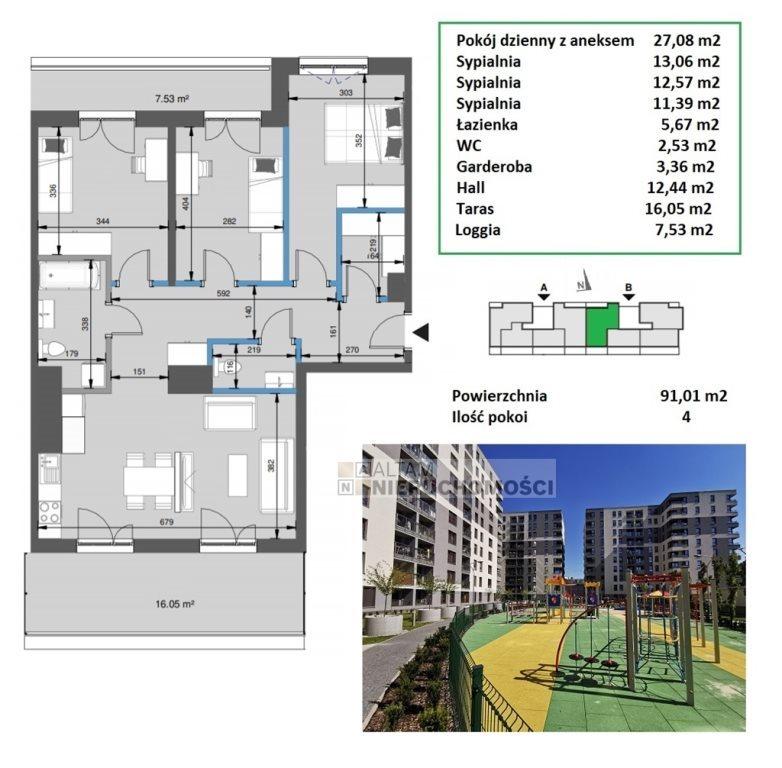 Mieszkanie czteropokojowe  na sprzedaż Kraków, Mistrzejowice, Mistrzejowice  91m2 Foto 1