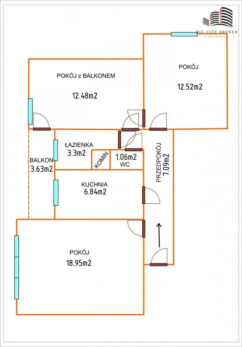 Mieszkanie trzypokojowe na sprzedaż Lublin, Lsm, Grażyny  66m2 Foto 4