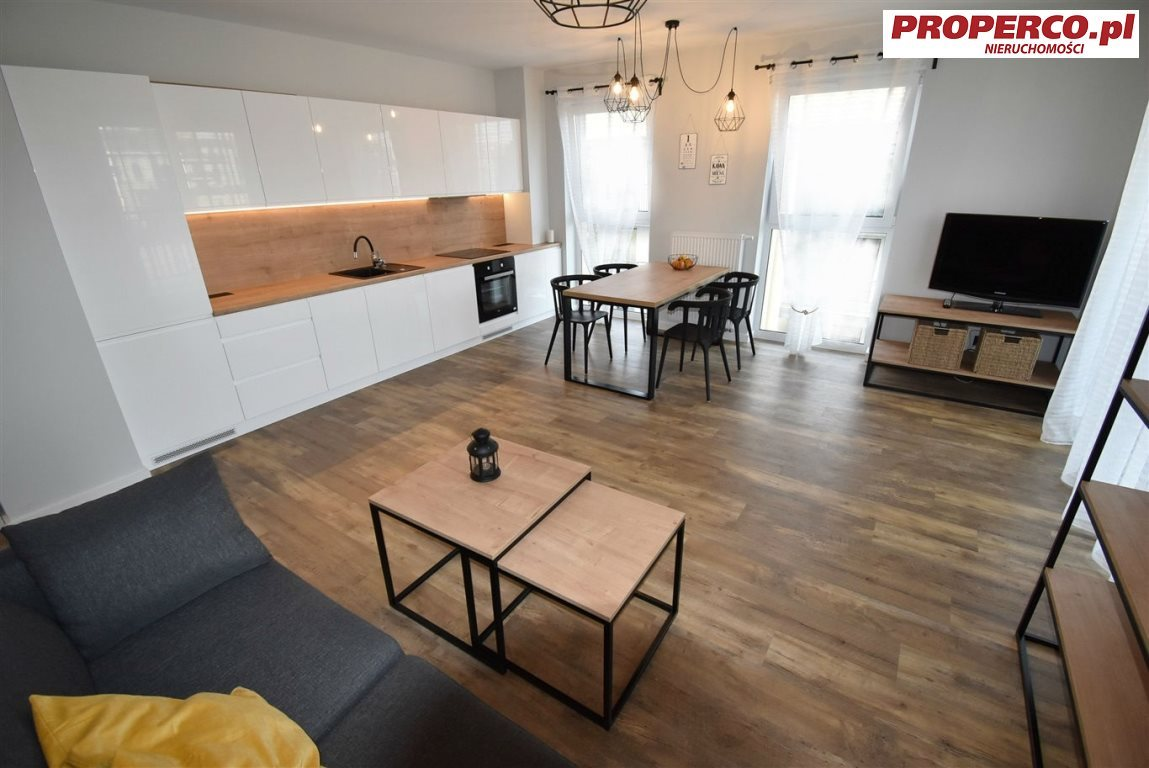 Mieszkanie dwupokojowe na wynajem Kielce, Centrum, Ściegiennego  48m2 Foto 2