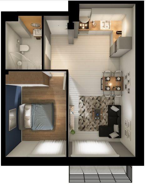 Mieszkanie dwupokojowe na sprzedaż Skórzewo  39m2 Foto 1