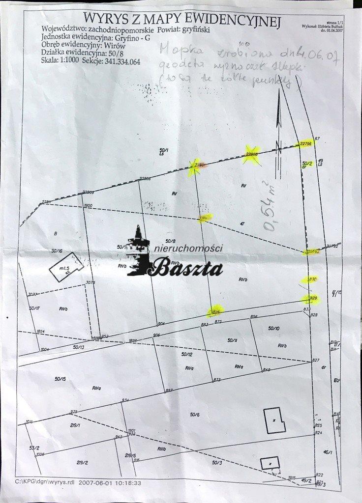 Działka budowlana na sprzedaż Wirów  5400m2 Foto 5